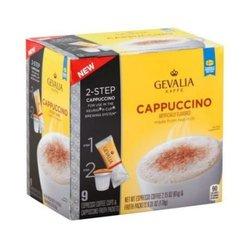 Gevalia Cappuccino Coffee Pods  - 9 Count- 8.46 Ounce