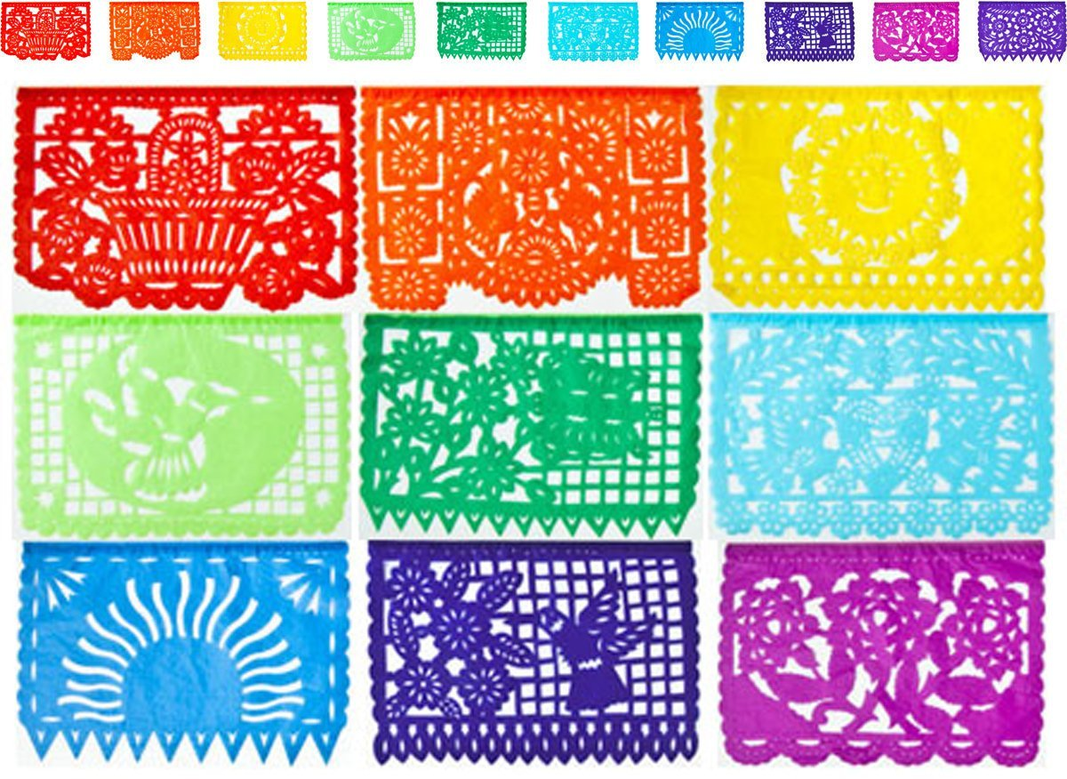 cultural intrigue picado paper banner 10 panels multicolor size