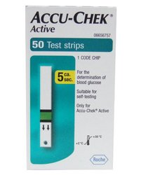 Accu Chek Active Diabetic Test Strips - Box of 50