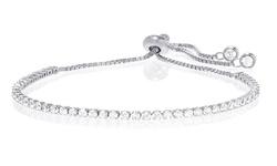 Swarovski Elements Tennis Bracelet - Sterling Silver