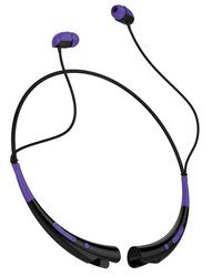 Aduro Amplify Pro Stereo Bluetooth Headset: Purple