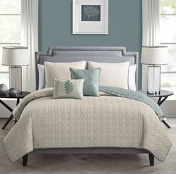 Hayden 5-Piece Quilt Set: Taupe/King