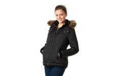 Maxi Long Down Coat W/natural Raccoon Faux Fur: Olive-l