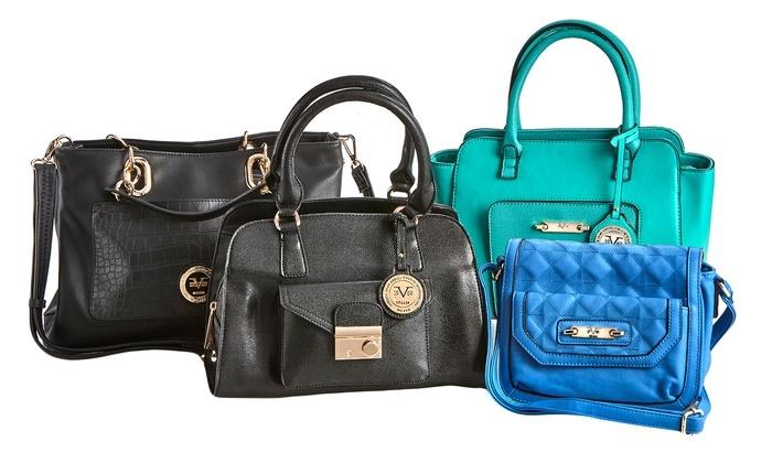 Versace Stingray Texture Concordia Satchel Handbag - Black - Check ... 2ef9be25f1dcf