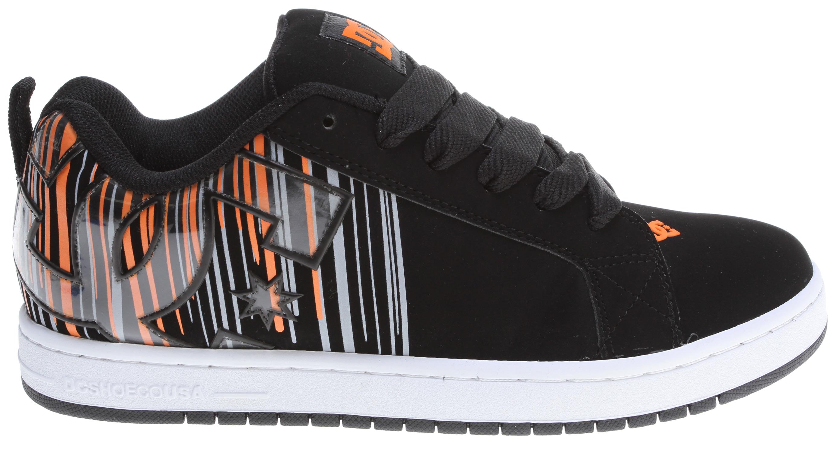 DC Men's Court Graffik SE Skate Shoe - Orange/Black - Size: 7 D