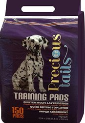 "Precious-Tails 150 Pack Puppy Training Pads  - 22 x 22"" - Purple"