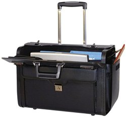 "Bond Street Rolling Computer/Carrying Case for 17"" Notebook 456110BLK"