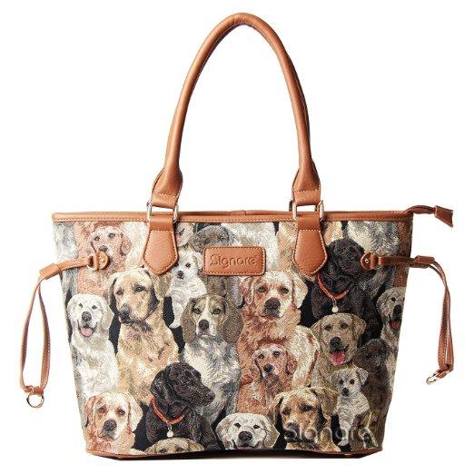 10df5735d0 ... Signare Womens Tapestry Fashion Tote Shoulder Bag in Labrador Dog  Design ...