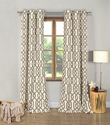 "Duck River Printed Blackout Grommet Pair Panel - Taupe - Size: 38"" x 84"""