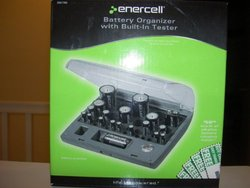 Battery Organizer With Built-in Tester in Enercell
