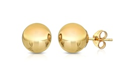 Best Silver 14K Solid Yellow Gold Ball Stud Earrings - 4mm