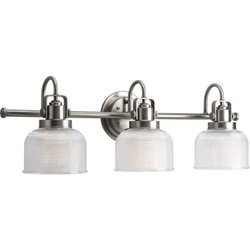 Progress Lighting P2992-81DI Archie 3-Light Vanity Light - Antique Nickel