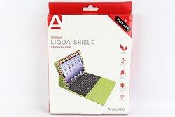 Aduro Liqua-shield Folio Case W/ Bluetooth Keyboard For Ipad 2/3/4 Circle