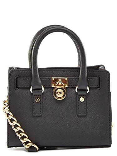 e86f417724c3 Michael Kors Hamilton Mini Messenger Crossbody Bag - Black - Check ...