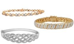 Diamond Bracelet In 2.00 cttw Brass Tennis Bracelet- Gold