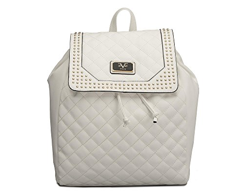 Versace 19V69 Italia Quilted Studed Medusa Backpack Handbags (White ... db5e001ece8c8