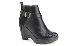 JBU Amberia Women's Wedge Booties - Black - Size: 11