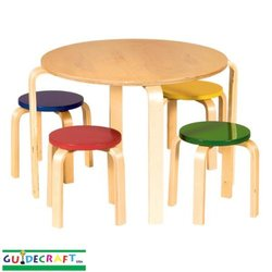 Guidecraft Nordic Table & Chairs In Color G81046