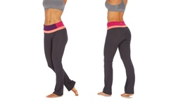 Bally Fitness Tummy Control Pants - Wildberry - Size: Medium