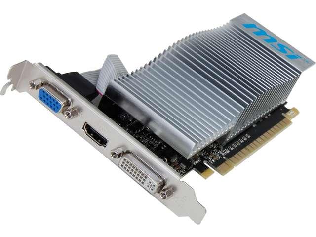 MSI nVidia GeForce N210 1GB 64-Bit Graphics Card (N210-MD1GD3H/LP)
