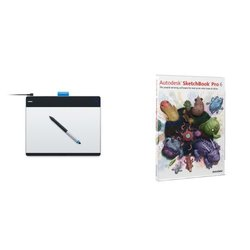 Wacom Intuos Creative Pen & Touch Tablet - Black/Silver - Medium (CTH680)