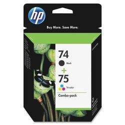 HP 74 Black & 75 Tri-color Original Ink Cartridgesn (CC659FN)