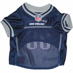 NFL AFC Pet Mesh Jerseys: New England Patriots/Large