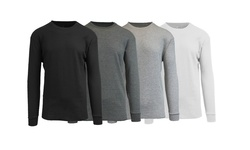 Harvic Waffle Knit Thermal - Black/Charcoal/Grey/White - Size: X-Large