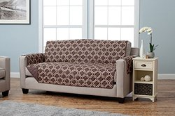 Home Fashion Designs Adalyn Collection Furniture Protector Sofa - Chocolate