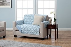 Home Fashion Designs Quilted Furniture Protector - Loveseat - Marine Blue