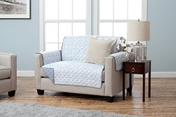 Geometric Printed Reversible Furniture Protector - Love Seat - Slate Blue