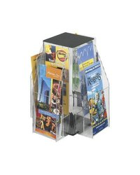 Safco Products 5696CL Reveal 8 Pamphlet Table Top Displays clear