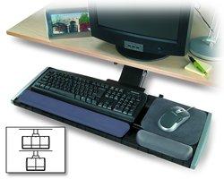 Kensington K60067 Underdesk Adjustable Keyboard Platform with Wrist Rest
