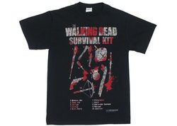 The Walking Dead Survival Kit Zombie Officially Licensed AMC Adult T-shirt S