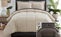 Victoria Classics Reversible Down Comforter - Taupe/Chocolate - Size: King