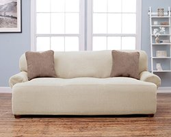 Home Fashion Savannah Collection Fit Slip Cover - Ivory