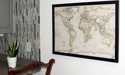 Home Magnetics World Magnetic-Pin Travel Map with Bonus 20 Pins