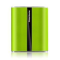PowerMaster 12,000mAh LED Dual-USB Power Bank: Green