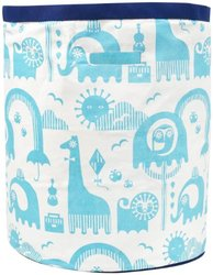 Jonathan Adler Junior Animal Canvas Storage - Blue - Size: Small