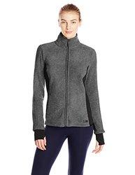 Marc New York Women's Polar Fleece Jacket - Charcoal/Black - Size: X-Large