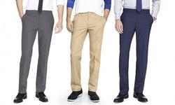 Bernardi Men's Slim-Fit Dress Pants - London Blue - Size: 32W/32L