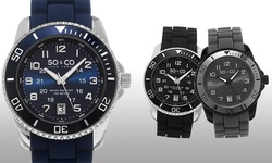 So & Co New York Men's Luminous Sport Watch - Blue