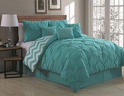 Avondale Manor Ella 7 Piece Comforter Set - Aqua - Size: Queen