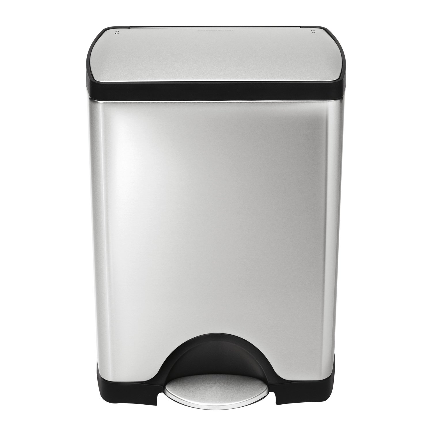 simplehuman 8 Gallon Brushed Stainless Steel Rectangular Step Trash ...