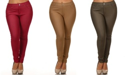 Chalmon's Women's Plus-Size Jeggings 3-Pack - Assorted - Size: 3X-Large
