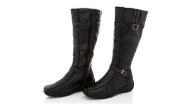 Rasolli Women's Tammy Riding Boot - Black - Size:10