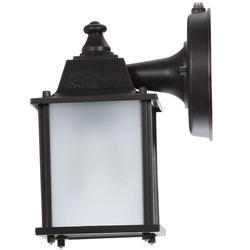 Hampton Bay BPM1691P 1-Light Outdoor Dusk-to-Dawn Wall-Mount Lantern