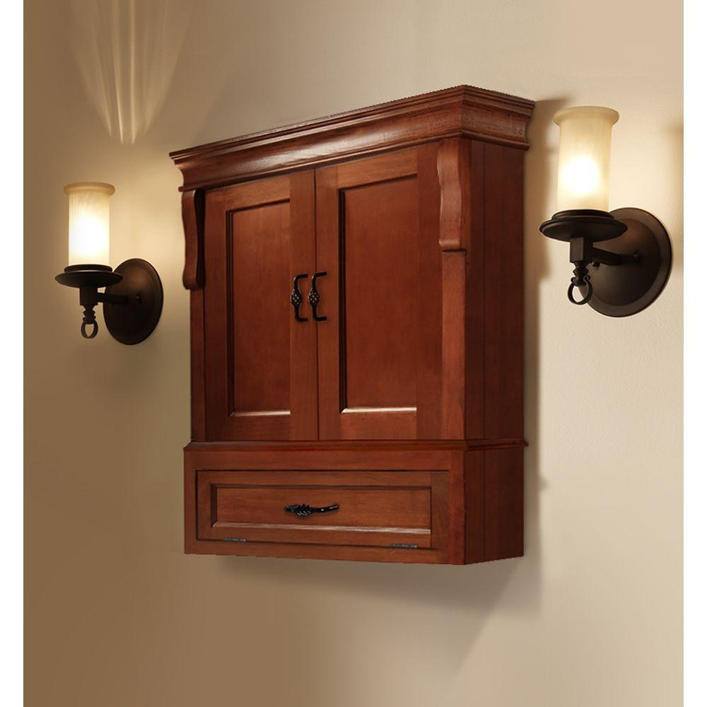 Genial ... Foremost Naples 26 1/2 In. W Wall Cabinet   Warm Cinnamon ...