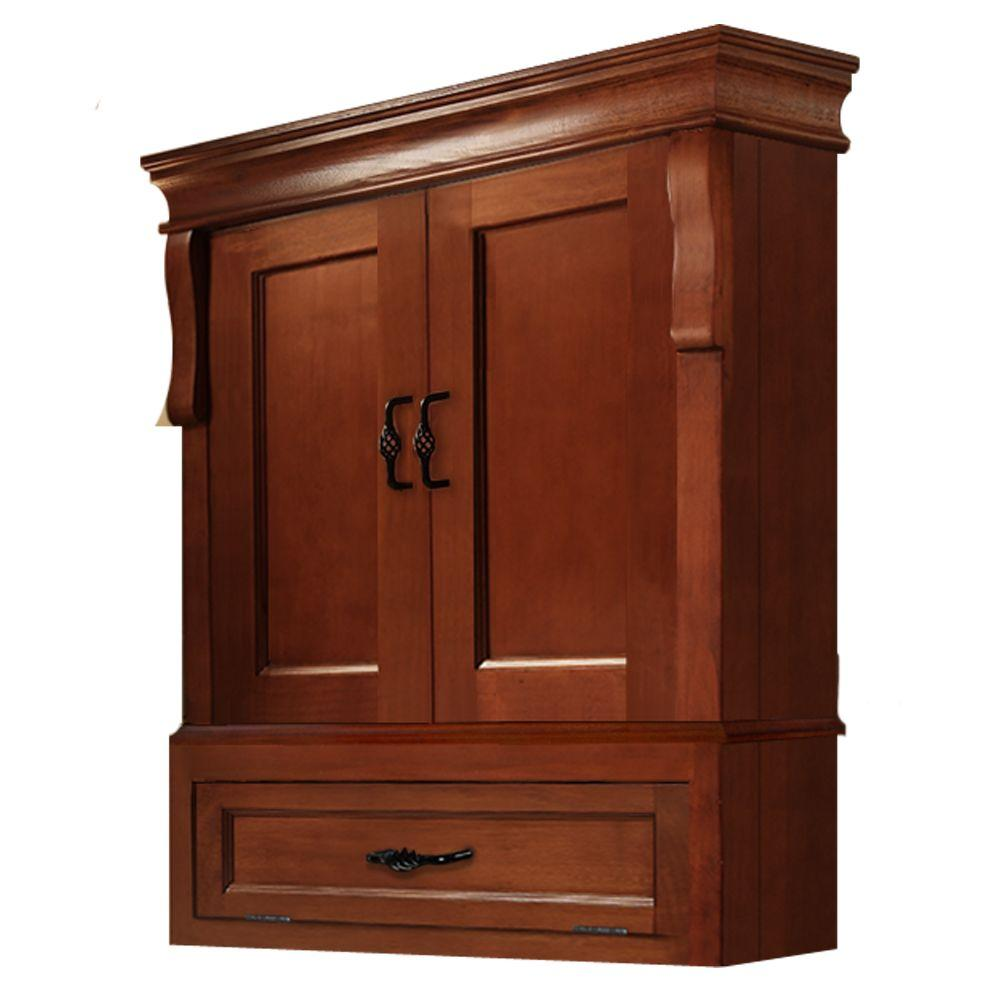 Etonnant ... Foremost Naples 26 1/2 In. W Wall Cabinet   Warm Cinnamon ...