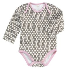 Dwellstudio Infant Girl's Organic Bodysuit - Starburst Chocolate - 3-6mo
